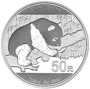 2016 panda refined 150 grams of silver